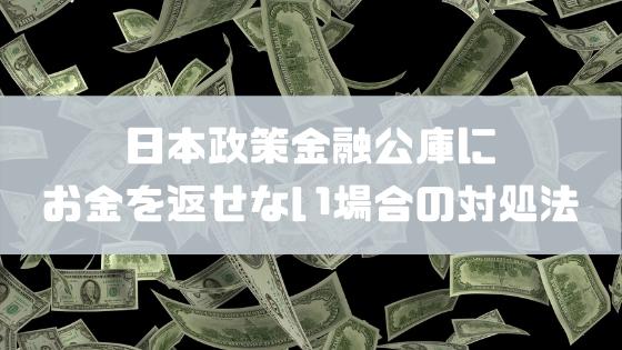 日本政策金融公庫に返せない